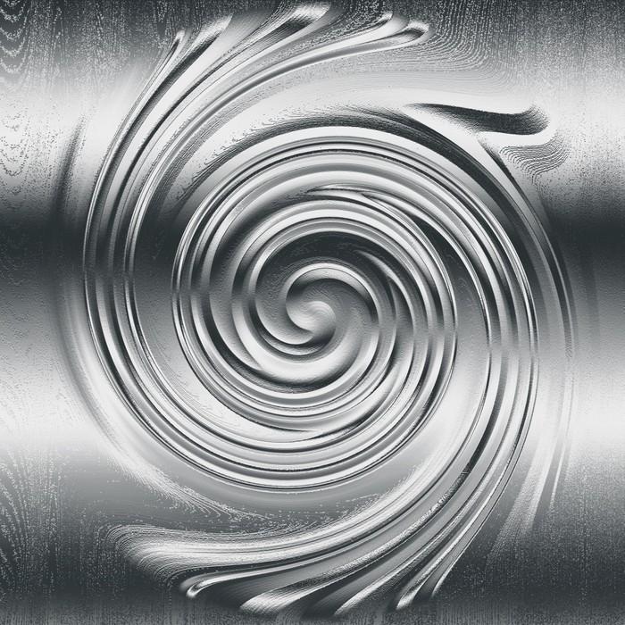 tableau sur toile abstrait relief m tallique en spirale. Black Bedroom Furniture Sets. Home Design Ideas