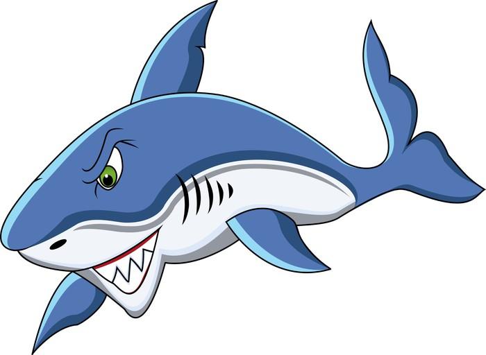 Adesivo squalo divertente cartone animato pixers
