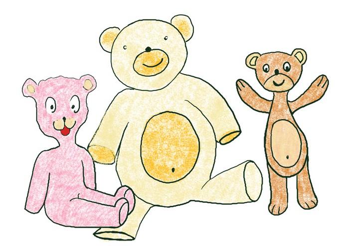 Vinylová Tapeta Ilustrace s Taddy medvědi, různé barvy - Savci
