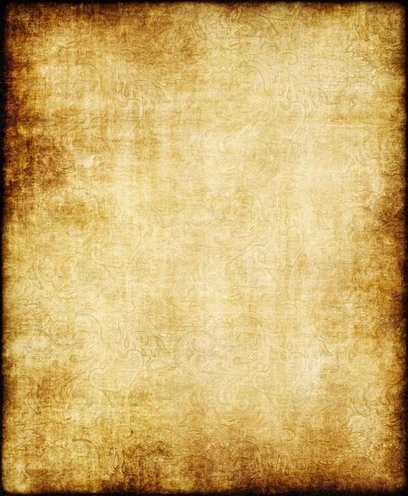Eccezionale Carta da Parati Vecchio, giallo, marrone annata di carta pergamena  FU77