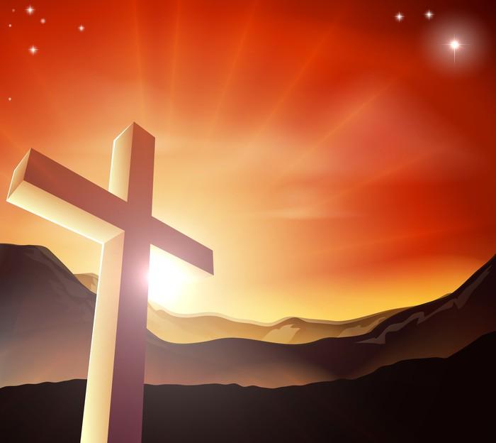 Vinylová Tapeta Velikonoční kříž koncepce - Mezinárodní svátky