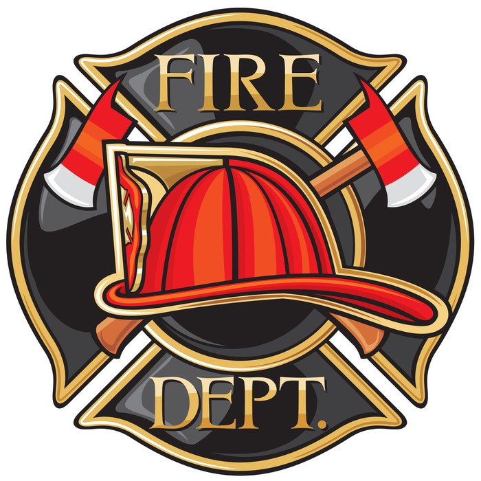 Fire Department Or Firefighters Maltese Cross Symbol Wall