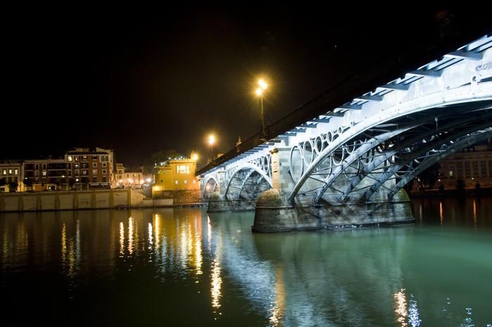 Vinylová Tapeta Most a řeka v Seville (Španělsko) - Evropa