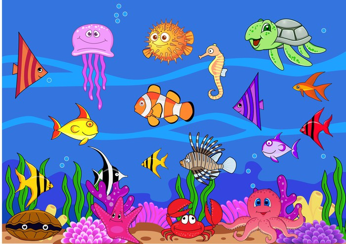 Sea Life Wall Mural   Vinyl   Themes Part 41