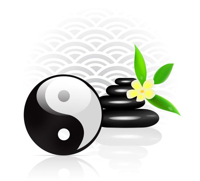 papier peint feng shui fond avec le symbole yin yang pixers nous vivons pour changer. Black Bedroom Furniture Sets. Home Design Ideas