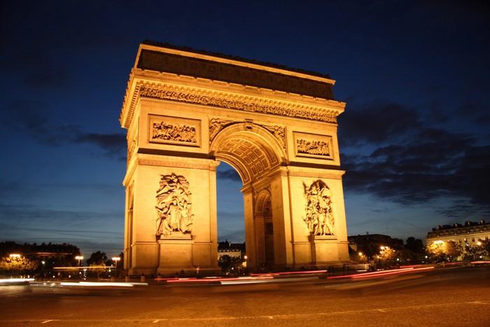 Arc de triomphe la nuit place de l 39 etoile paris wall for Arc de triomphe wall mural