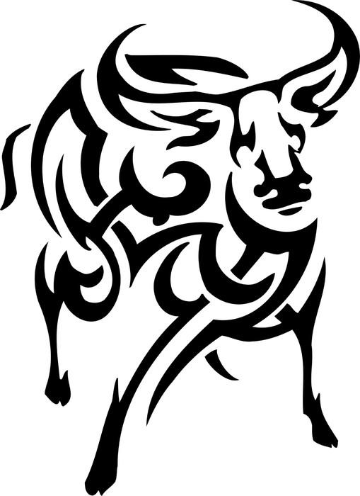 Póster vector vilyl-ready illustration - animal in tribal style - Animais imaginários