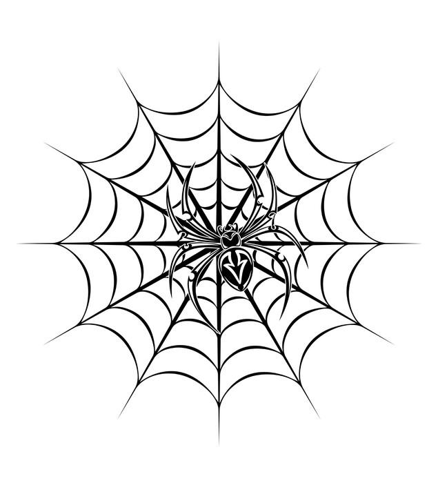Vinylová Tapeta Spider tattoo - Život