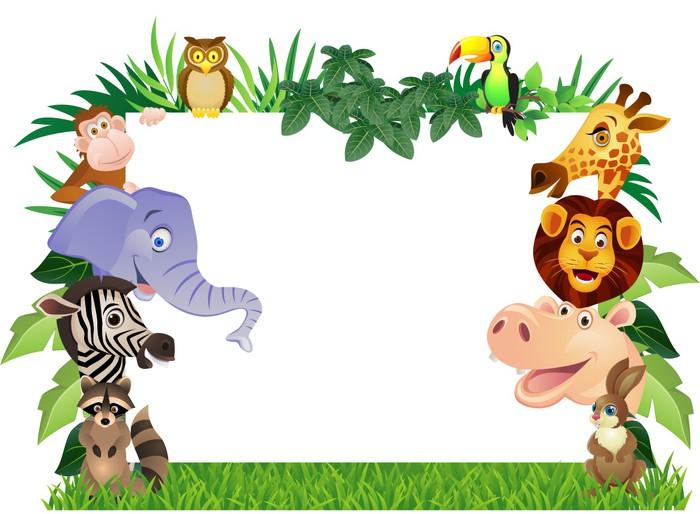 Carta da parati cartone animato animale pixers