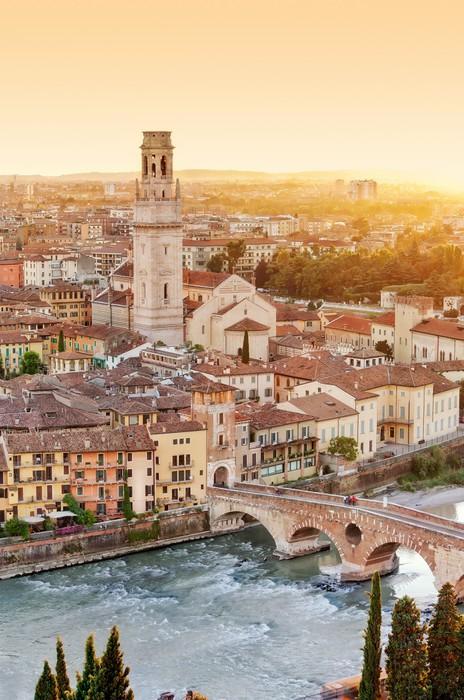 Vinylová Tapeta Verona z vysoce - Ponte Pietra - Itálie - Evropa
