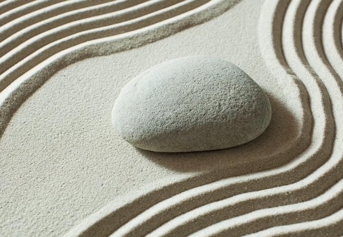 Vinyle Galet : Papier peint galets zen isolés sur le sable pixers