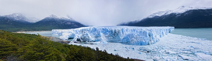 Vinylová Tapeta Panoramica del ledovec Perito Moreno - Amerika