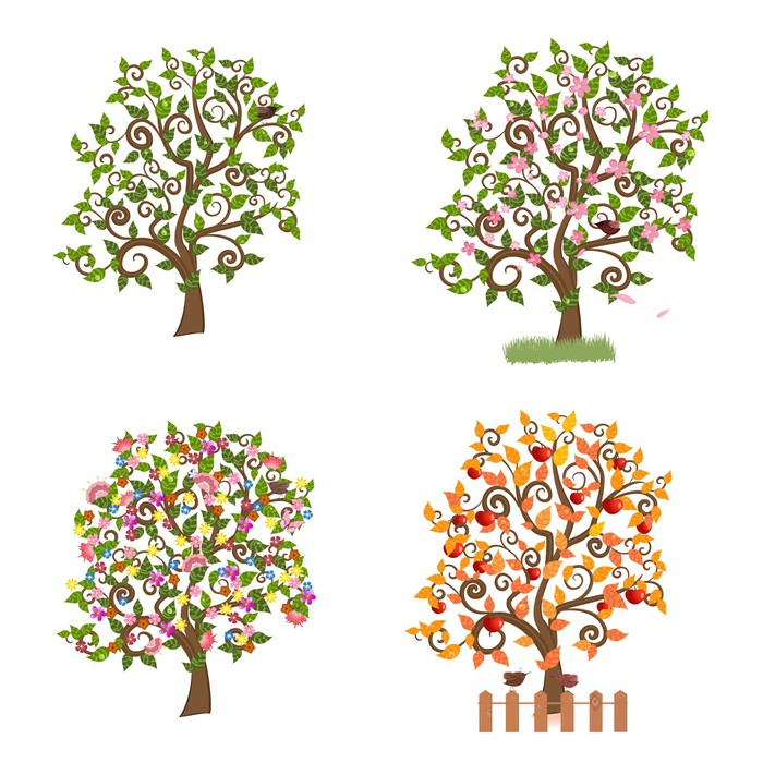 d a trees of decorative photo stock on white background illustration decor image shrubs