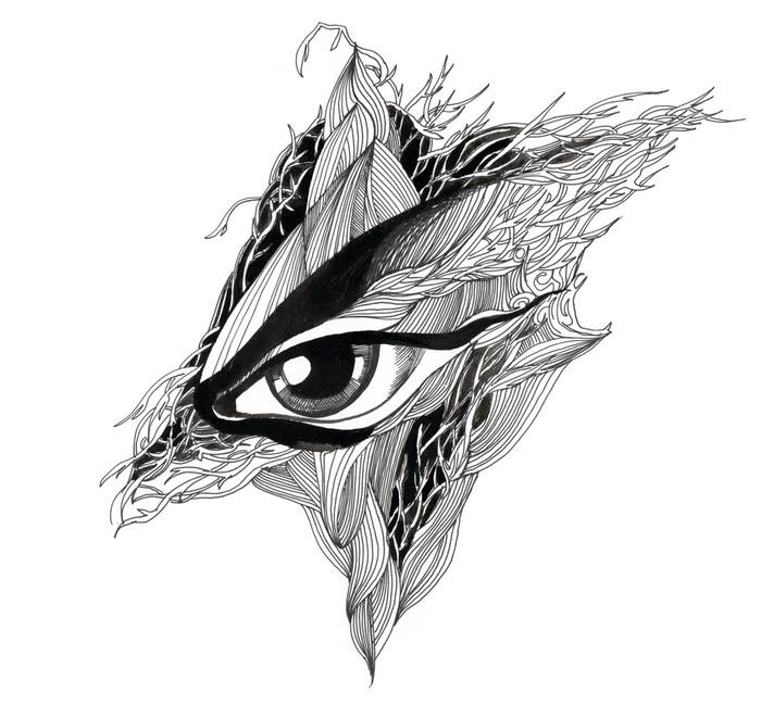 Papier Peint Vinyle Résumé des yeux (série C) - Thèmes