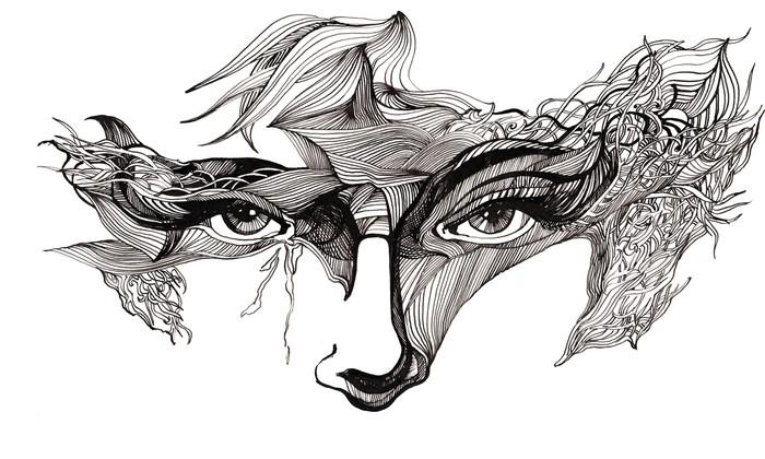 Papier Peint Vinyle Abstrait face décorée (série C) - Styles