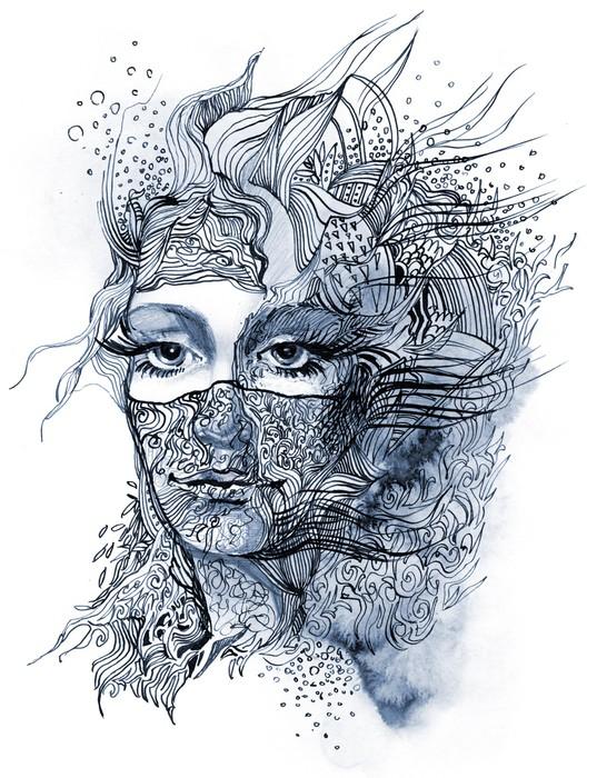 Papier Peint Vinyle Abstrait face décorée (série C) - iStaging