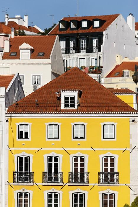 Vinylová Tapeta Barevný Lisabon - Evropská města