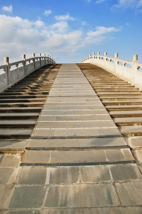 Vinylová Tapeta Obloukový most v podobě staré čínské vynálezu, stále v provozu - Asie