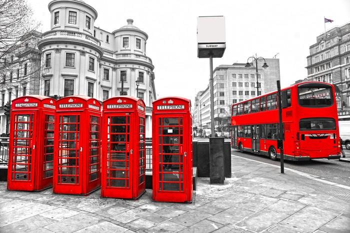 Cabina Telefonica Londra 94 : Stickerprofis poster adesivo da porta e pareti london cabina