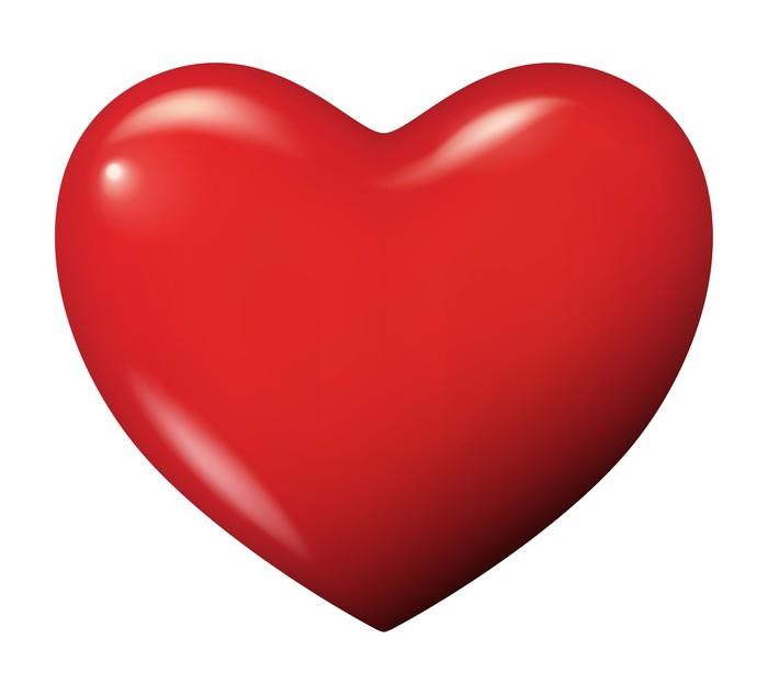 Sticker Parfait Vecteur Coeur Rouge Isol 233 Pixers 174 Nous