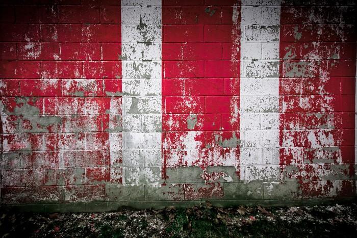 Mur Rouge Blanc : Sticker sale rouge et blanc mur pixers nous vivons