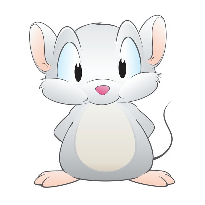 Fotomural Estndar Ratn de dibujos animados  Pixers  Vivimos