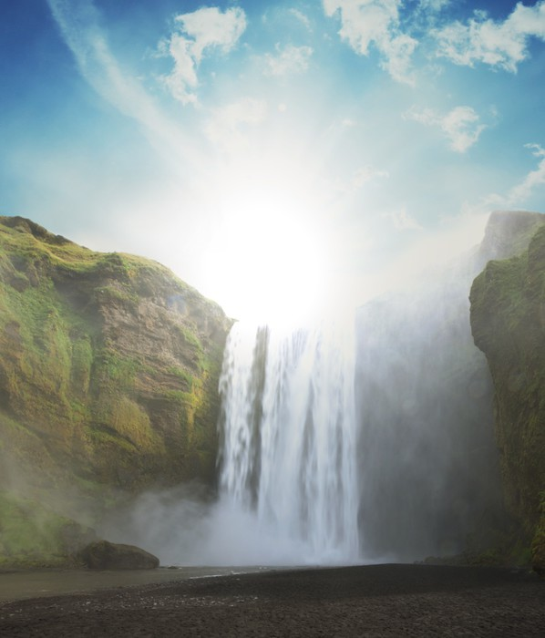 Vinylová Tapeta Vodopád na Islandu - Voda