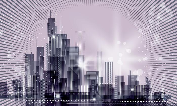 Vinylová Tapeta Pohled na město - Město
