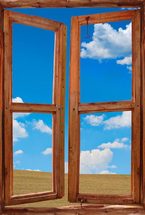 tableau sur toile cadre de la fen tre avec un beau paysage de fond pixers nous vivons pour. Black Bedroom Furniture Sets. Home Design Ideas