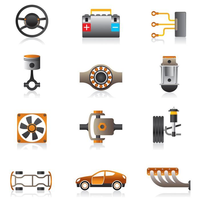 Fototapete Teile des Auto-Motor - Vektor-Illustration • Pixers ...
