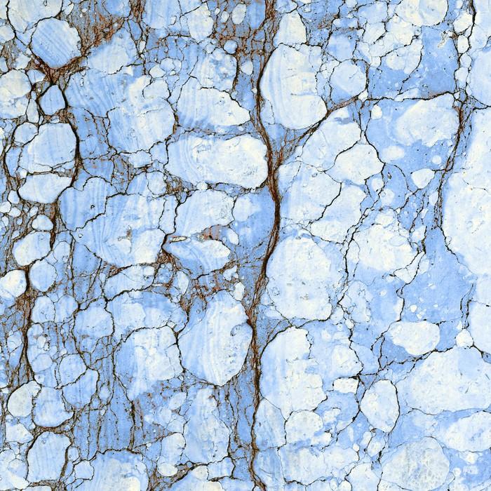 Vinylová Tapeta Modrá textura mramoru - Témata