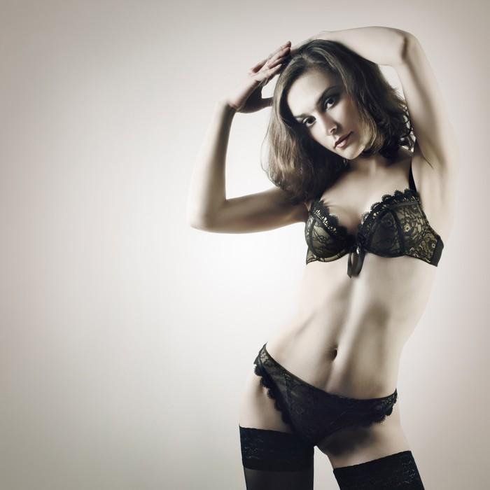 Fotomural mujer sexy en ropa interior de moda modelo for Follando en ropa interior