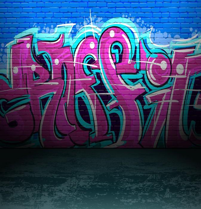 fototapete graffiti wall urban street art painting pixers wir leben um zu ver ndern. Black Bedroom Furniture Sets. Home Design Ideas