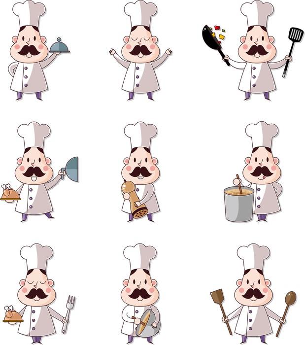 Carta da Parati Cartoon chef icona • Pixers® - Viviamo per il ... d1215a99deb0