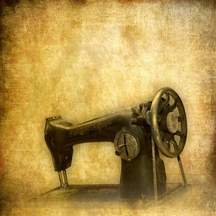 Old sewing machine, vintage background Wall Mural • Pixers® • We ...