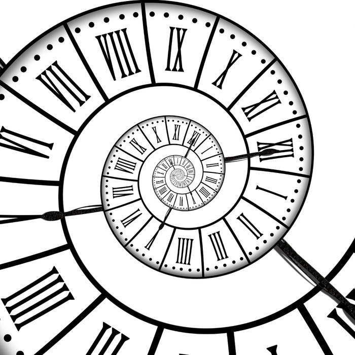 Vinylová Tapeta Antique hodiny, spirála - Hodiny