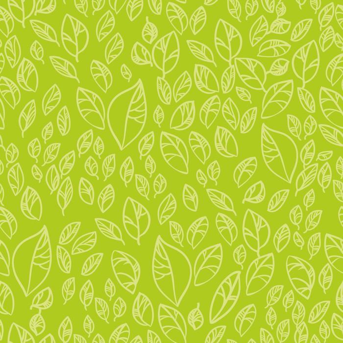 Vinylová Tapeta Бесшовный узор зеленые листья - Rostliny