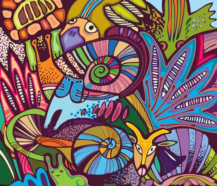 papier peint illustration dr le de l 39 usine d 39 l ments et le monde animal pixers nous vivons. Black Bedroom Furniture Sets. Home Design Ideas