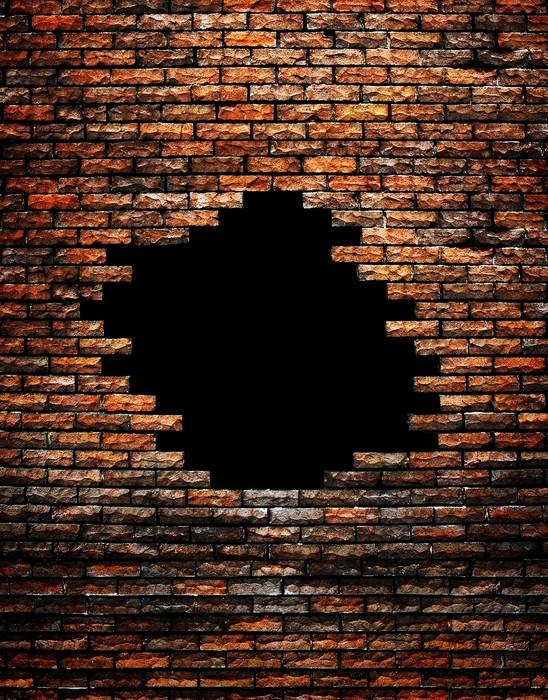 Carta da parati muro di mattoni rotto pixers viviamo for Carta da parati muro mattoni