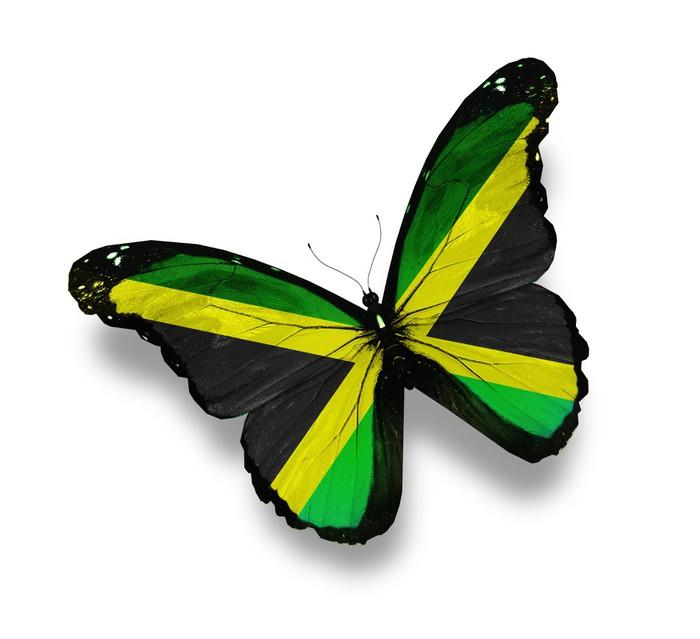Vinylová Tapeta Jamajská vlajka motýl, izolovaných na bílém - Národní svátky