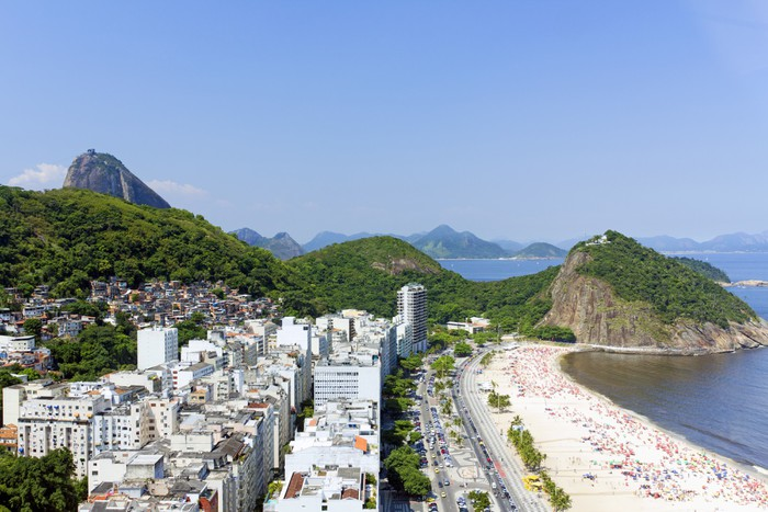 Vinylová Tapeta Copacabana Beach - Americká města
