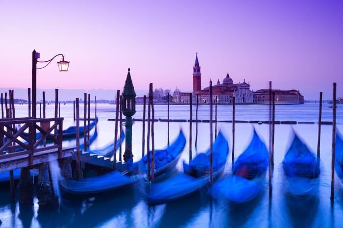 Vinylová Tapeta San Giorgio Maggiore kostel a gondoly v Benátkách - Evropská města