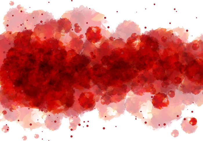 Red Watercolor Background Wall Mural Pixers 174 We Live