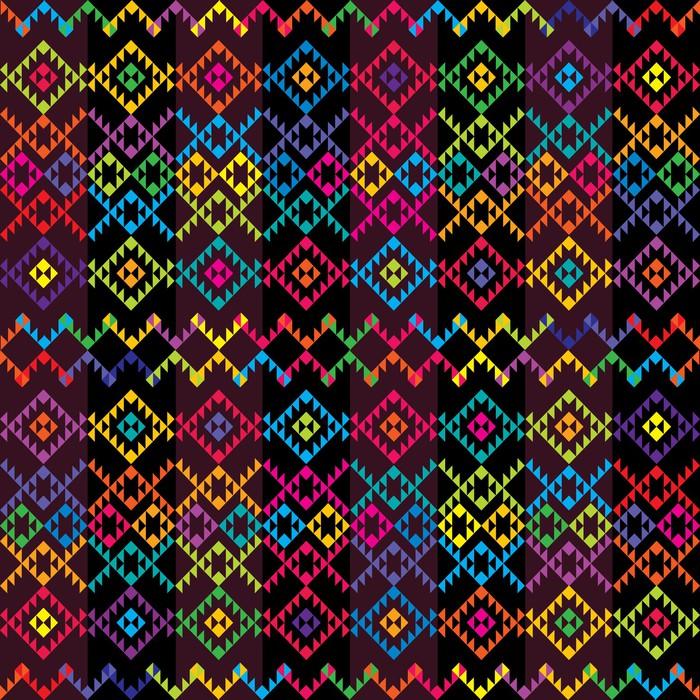 Tableau sur toile tapis de couleur ethnique pixers nous vivons pour changer - Toile antiderapante pour tapis ...