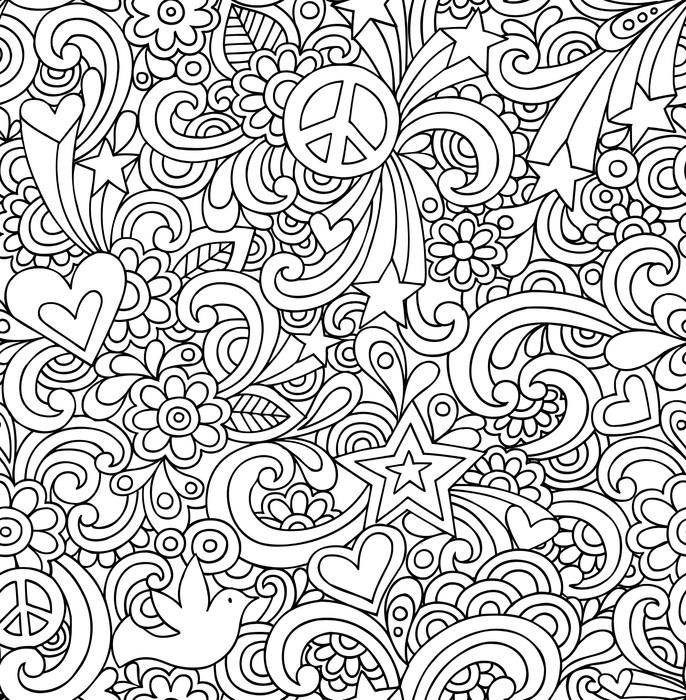 papier peint seamless doodles portable psych d lique de mod le groovy pixers nous vivons. Black Bedroom Furniture Sets. Home Design Ideas