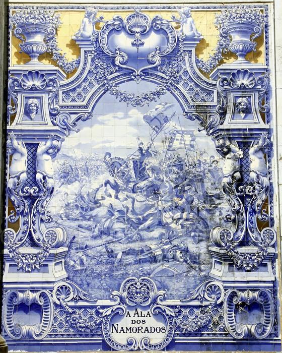 papier peint ancien azulejo lisbonne pixers nous vivons pour changer. Black Bedroom Furniture Sets. Home Design Ideas