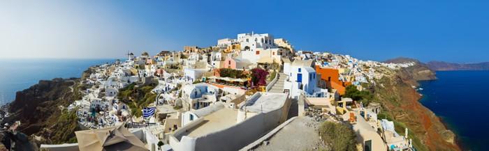 Vinylová Tapeta Santorini pohled (Oia), Řecko - Prázdniny
