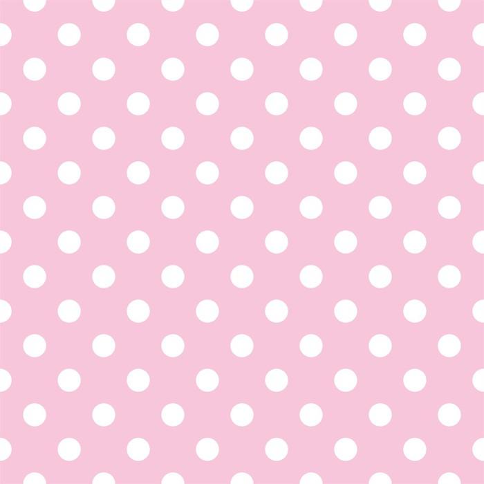 Papier Peint Vinyle Pois sur fond rose bébé rétro modèle vectoriel transparente - Thèmes