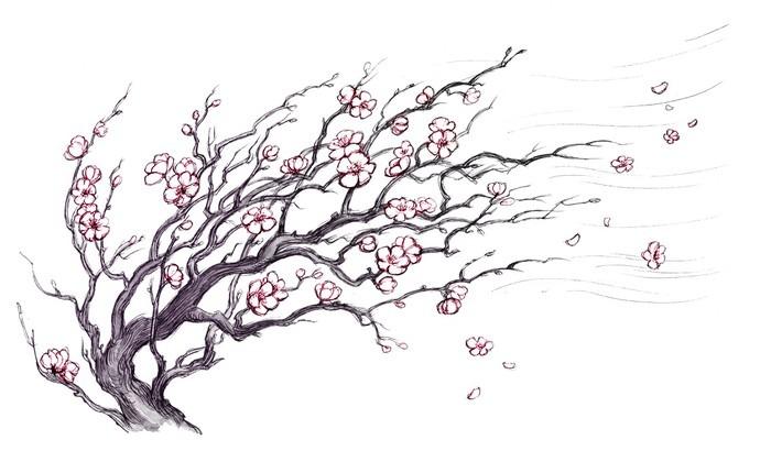 aufkleber japanischer kirschbaum pixers wir leben um. Black Bedroom Furniture Sets. Home Design Ideas
