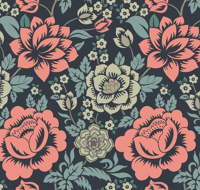 Vinilo Pixerstick Estampado de flores colorido, diseño textil, la ...